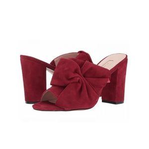 Avec les filles marie bow suede heeled sandals